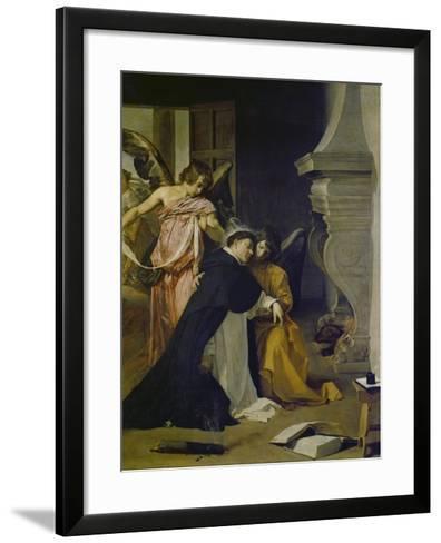 Temptation of St. Thomas Aquinas-Diego Velazquez-Framed Art Print