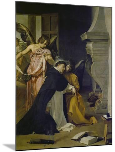 Temptation of St. Thomas Aquinas-Diego Velazquez-Mounted Giclee Print