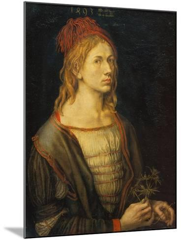 Self Portrait with a Thistle, 1493-Albrecht D?rer-Mounted Giclee Print