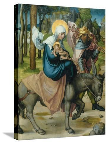 "The Flight to Egypt, from the Altar: ""The Virgin's Seven Agonies"", 1495-96-Albrecht D?rer-Stretched Canvas Print"