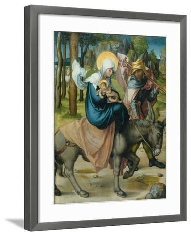 "The Flight to Egypt, from the Altar: ""The Virgin's Seven Agonies"", 1495-96-Albrecht D?rer-Framed Art Print"