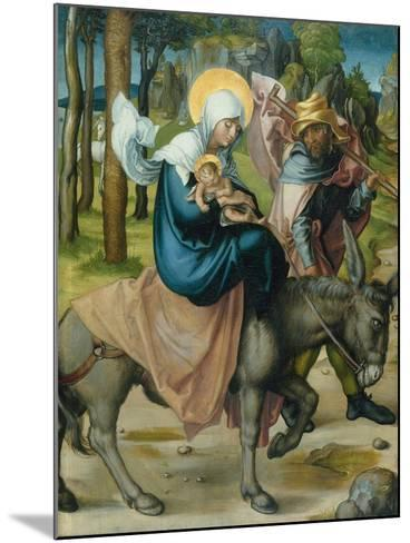 "The Flight to Egypt, from the Altar: ""The Virgin's Seven Agonies"", 1495-96-Albrecht D?rer-Mounted Giclee Print"