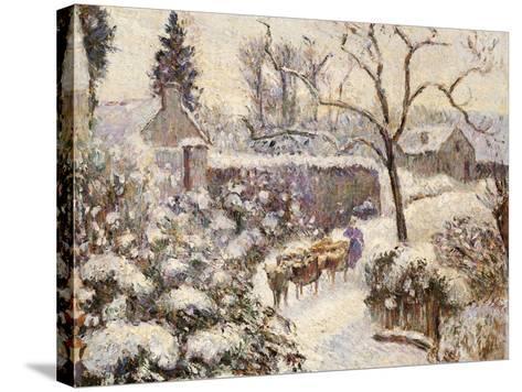 Snow at Montfoucault, 1891-Camille Pissarro-Stretched Canvas Print
