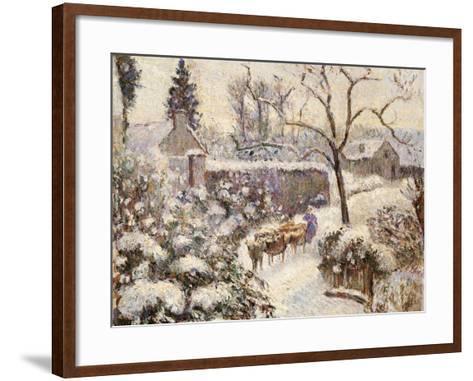 Snow at Montfoucault, 1891-Camille Pissarro-Framed Art Print