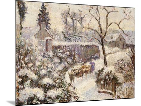 Snow at Montfoucault, 1891-Camille Pissarro-Mounted Giclee Print