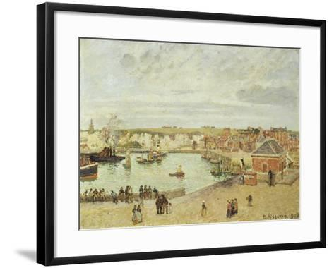 The Harbour at Dieppe, 1902-Camille Pissarro-Framed Art Print
