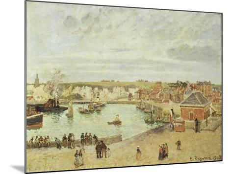 The Harbour at Dieppe, 1902-Camille Pissarro-Mounted Giclee Print