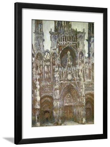 Rouen Cathedral (Harmony in Brown), 1892-Claude Monet-Framed Art Print
