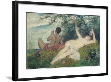 Spring (Sketch), 1862-Arnold B?cklin-Framed Art Print