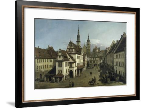 The Market Place, Pirna, 1753-54-Bernardo Strozzi-Framed Art Print