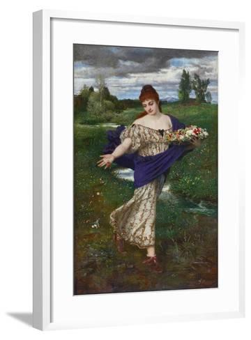 Flora, Scattering Flowers (Flora, Blumen Streuend), 1875-Arnold B?cklin-Framed Art Print