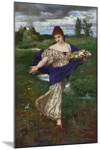 Flora, Scattering Flowers (Flora, Blumen Streuend), 1875-Arnold B?cklin-Mounted Giclee Print