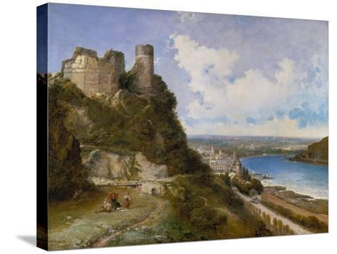 View of Oberwesel on the Rhine with Castle Ruin, 1897-Arthur Joseph Meadows-Stretched Canvas Print