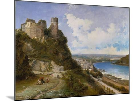 View of Oberwesel on the Rhine with Castle Ruin, 1897-Arthur Joseph Meadows-Mounted Giclee Print