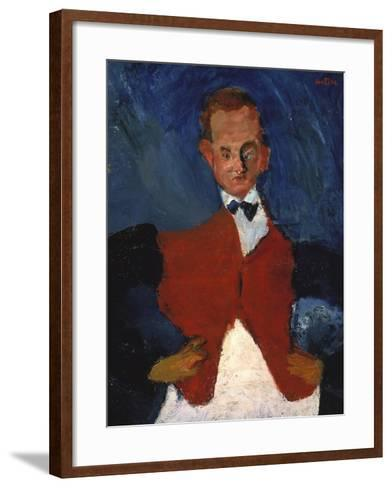 The Waiter, (Le Garcon D'?tage), Between 1922 and 1928-Chaim Soutine-Framed Art Print