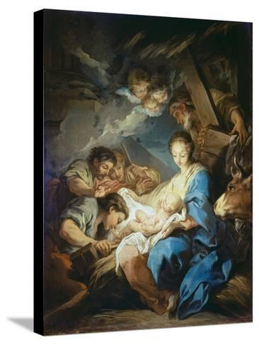 Adoration of the Shepherds-Charles André van Loo-Stretched Canvas Print