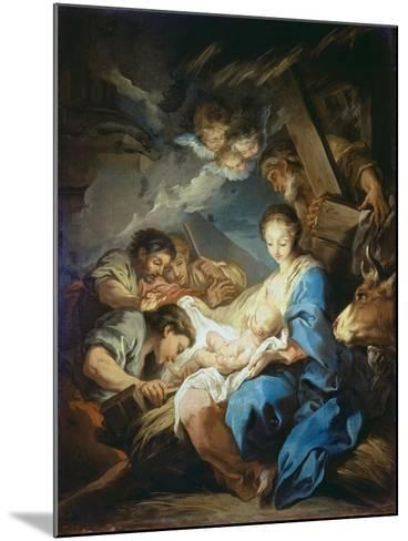 Adoration of the Shepherds-Charles André van Loo-Mounted Giclee Print