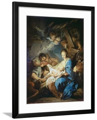 Adoration of the Shepherds-Charles André van Loo-Framed Art Print