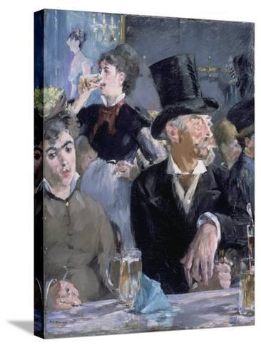 Le Café - Le Concert, 1878-Edouard Manet-Stretched Canvas Print
