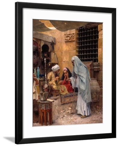 In the Bazaar, 1901-Charles Wilda-Framed Art Print