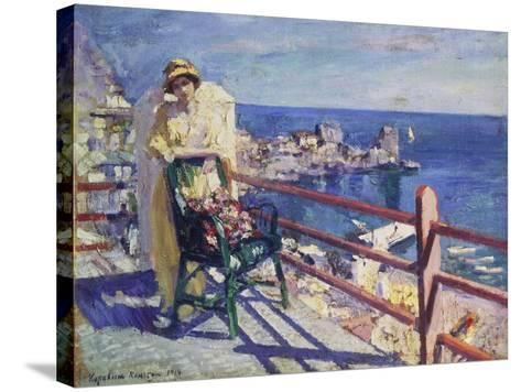 Woman on a Terrace (Gursuph), 1914-Alexejew Konstantin Korovin-Stretched Canvas Print