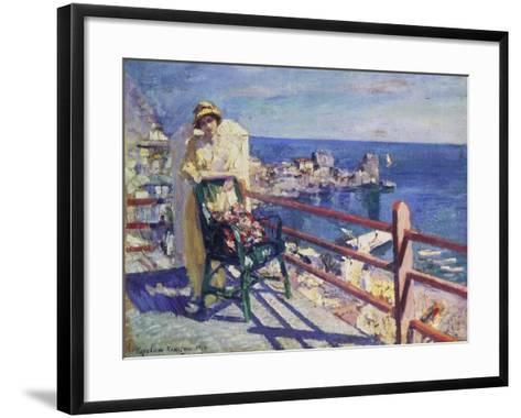 Woman on a Terrace (Gursuph), 1914-Alexejew Konstantin Korovin-Framed Art Print