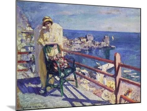 Woman on a Terrace (Gursuph), 1914-Alexejew Konstantin Korovin-Mounted Giclee Print