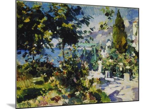 Terrace by the Sea in Gursuph, 1914-Alexejew Konstantin Korovin-Mounted Giclee Print