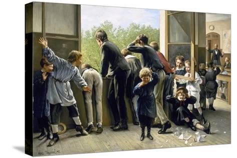 The Class Pranksters-Auguste Joseph Truphème-Stretched Canvas Print