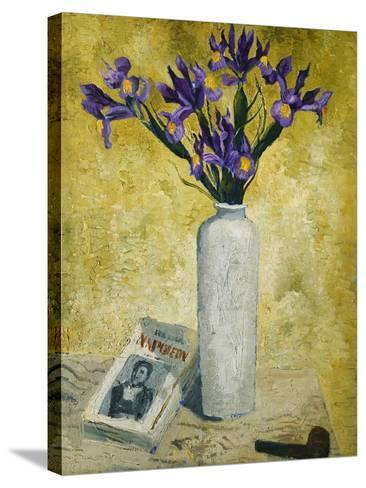 Irises in a Tall Vase, 1928-Christopher Wood-Stretched Canvas Print