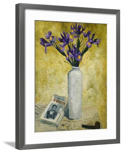 Irises in a Tall Vase, 1928-Christopher Wood-Framed Art Print