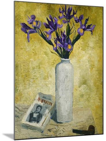 Irises in a Tall Vase, 1928-Christopher Wood-Mounted Giclee Print