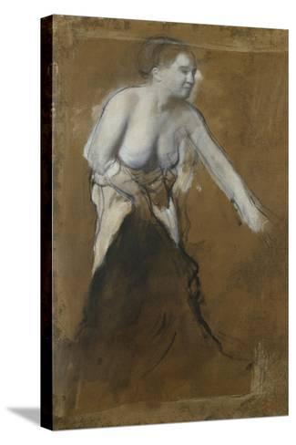 Young Woman, Half-Undressed, 1866-68-Edgar Degas-Stretched Canvas Print