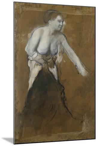 Young Woman, Half-Undressed, 1866-68-Edgar Degas-Mounted Giclee Print