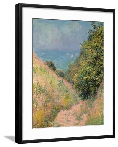 The Path of La Cavée at Pourville, 1882-Claude Monet-Framed Art Print