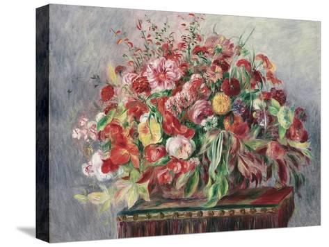 Basket of Flowers, 1890-Pierre-Auguste Renoir-Stretched Canvas Print