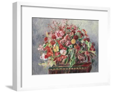 Basket of Flowers, 1890-Pierre-Auguste Renoir-Framed Art Print