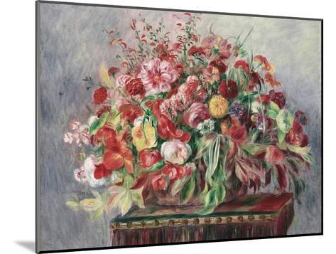 Basket of Flowers, 1890-Pierre-Auguste Renoir-Mounted Giclee Print