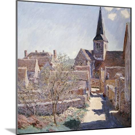 Bennecourt, 1885-Claude Monet-Mounted Giclee Print