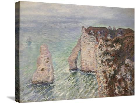 Aiguille and the Porte D'Aval, Etretat, 1886-Claude Monet-Stretched Canvas Print