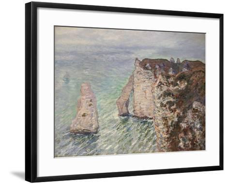 Aiguille and the Porte D'Aval, Etretat, 1886-Claude Monet-Framed Art Print