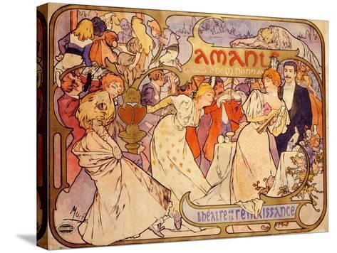 Amants, 1895-Alphonse Mucha-Stretched Canvas Print