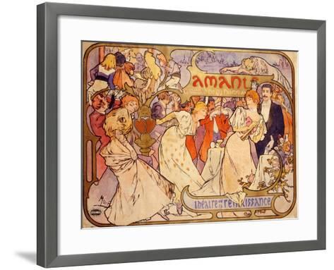 Amants, 1895-Alphonse Mucha-Framed Art Print