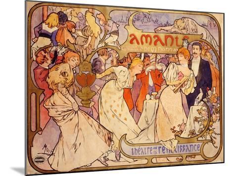 Amants, 1895-Alphonse Mucha-Mounted Giclee Print