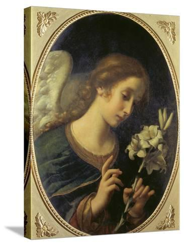Angel of the Annunciation-Carlo Dolci-Stretched Canvas Print