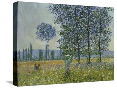 Fields in Spring, 1887-Claude Monet-Stretched Canvas Print