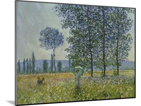 Fields in Spring, 1887-Claude Monet-Mounted Giclee Print