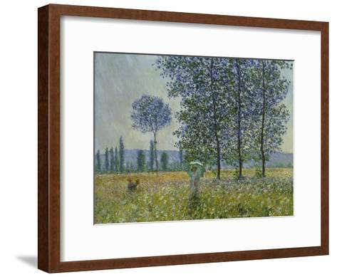 Fields in Spring, 1887-Claude Monet-Framed Art Print