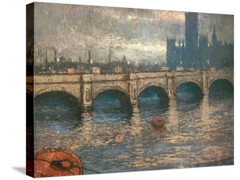 Westminster Bridge and the Houses of Parliament in London, 1900-04-Claude Monet-Stretched Canvas Print
