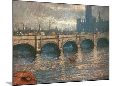 Westminster Bridge and the Houses of Parliament in London, 1900-04-Claude Monet-Mounted Giclee Print